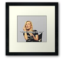 GA - QUOTES Framed Print