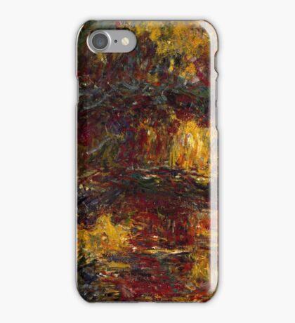 Claude Monet - The Japanese Footbridge  Giverny ,Impressionism iPhone Case/Skin