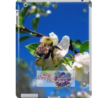 blue skies and a bee 2 iPad Case/Skin