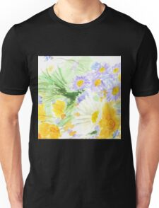 cheerful colorful wild flower  Unisex T-Shirt