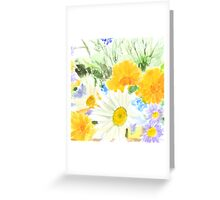 colorful cheery wild flower 2 Greeting Card
