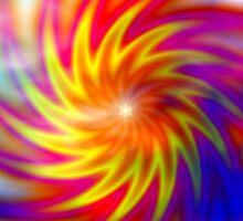 Double Sunstar Twirl - Blue Cloud Majest Sticker