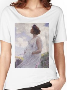 George Hitchcock - Calypso . Flowers. Woman Portrait . American Landscape Women's Relaxed Fit T-Shirt