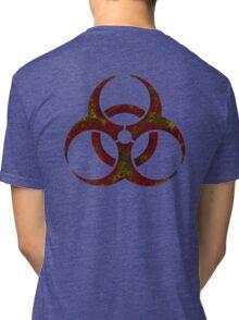 Biohazard symbol 3 Tri-blend T-Shirt