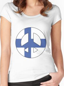 Finland Women's Fitted Scoop T-Shirt