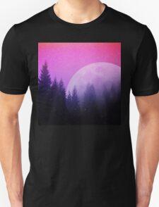 Cosmic Forest & Moon Unisex T-Shirt