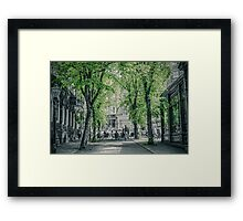 Cafe Scene Framed Print