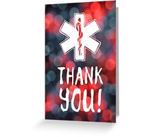 thank you star of life bokeh Greeting Card