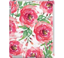 Watercolor Pink Peony iPad Case/Skin