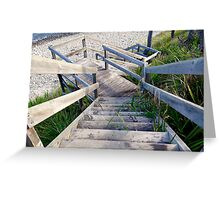 Staircase to the water's edge Greeting Card