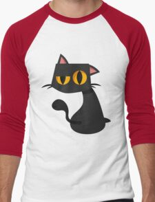 Sharp Black Cat Men's Baseball ¾ T-Shirt