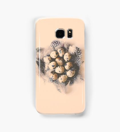 quail eggs nest Samsung Galaxy Case/Skin