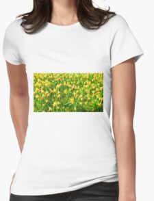 Daffodil Field ( Painting ) Womens Fitted T-Shirt