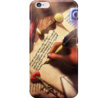 The Writer (Digital Illustration) iPhone Case/Skin
