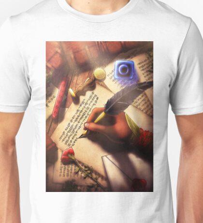 The Writer (Digital Illustration) Unisex T-Shirt
