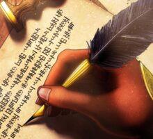 The Writer (Digital Illustration) Sticker