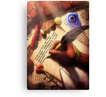 The Writer (Digital Illustration) Canvas Print