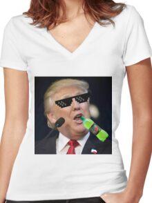 MLG Trump Women's Fitted V-Neck T-Shirt