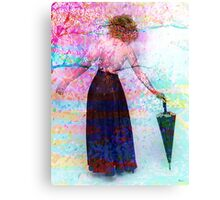 AND SHE WALKED INTO SPRING Canvas Print