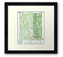 USGS TOPO Map Alabama AL Kinlock Spring 304336 2000 24000 Framed Print
