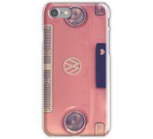 Pink VW camper van iPhone Case/Skin