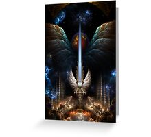 The Angel Wing Sword Of Arkledious Imperial Wings Greeting Card