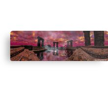 TEMPLE OF WATER /HYPERION WORLD ,Sci-Fi Movie Metal Print