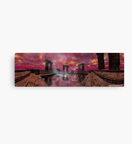 TEMPLE OF WATER /HYPERION WORLD ,Sci-Fi Movie Canvas Print