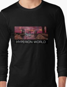 TEMPLE OF WATER /HYPERION WORLD ,Sci-Fi Movie Long Sleeve T-Shirt
