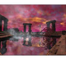 TEMPLE OF WATER /HYPERION WORLD ,Sci-Fi Movie Sticker
