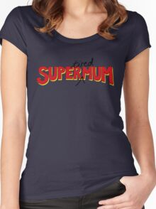 Super(tired)Mum Women's Fitted Scoop T-Shirt