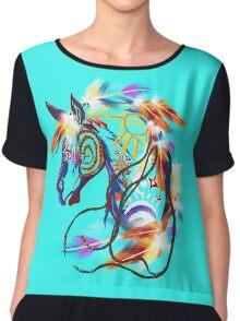 Bright Horse Chiffon Top