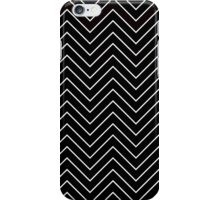 Black and White Chevron Zigzag Pattern  iPhone Case/Skin