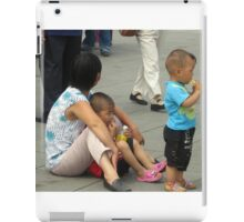 A Mother With Her Two Boys iPad Case/Skin