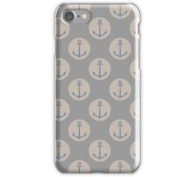 Nautical Anchor Natural Grey And Cream iPhone Case/Skin