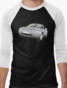 Mazda MX-5 Miata silver Men's Baseball ¾ T-Shirt