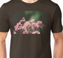 Pink Flowers with Butterfly Filtered 2 Unisex T-Shirt