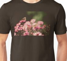 Pink Flowers with Butterfly Filtered 3 Unisex T-Shirt