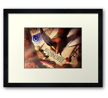 The Writer (Digital Illustration) - Rotated Framed Print
