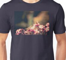 Pink Flowers with Butterfly Filtered 4 Unisex T-Shirt