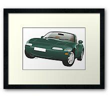 Mazda MX-5 Miata green Framed Print