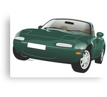 Mazda MX-5 Miata green Canvas Print