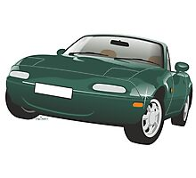Mazda MX-5 Miata green Photographic Print