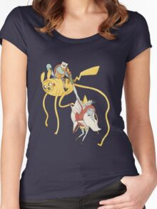 Pokebattle! Come on, grab your friends... Women's Fitted Scoop T-Shirt