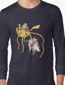 Pokebattle! Come on, grab your friends... Long Sleeve T-Shirt