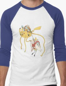 Pokebattle! Come on, grab your friends... Men's Baseball ¾ T-Shirt