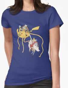 Pokebattle! Come on, grab your friends... Womens Fitted T-Shirt