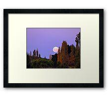 Autumn Moon - Southland New Zealand Framed Print