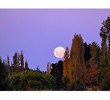Autumn Moon - Southland New Zealand Photographic Print