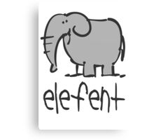 Funny Elephant Illustration Canvas Print